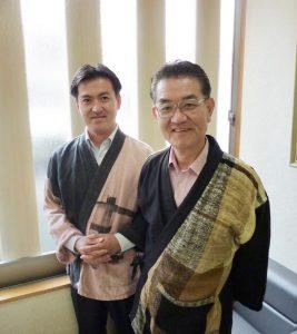 京都絞り工芸館・吉岡健治さんと吉岡信昌さん